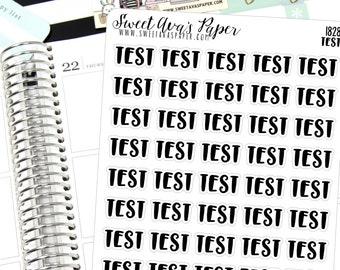 Test Planner Stickers - Script Planner Stickers - Lettering Planner Stickers - Typography Stickers - School Planner Stickers - 1828