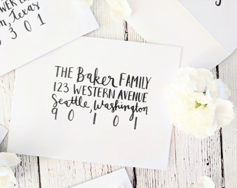Hand-Written Envelope Calligraphy  {Wedding, Parties, Bridal Showers, Baby Showers}