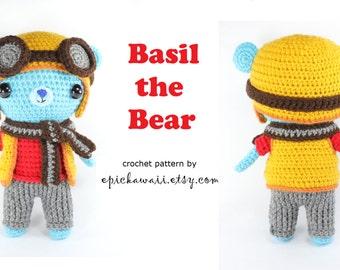 PATTERN: Basil the Bear Crochet Amigurumi Doll