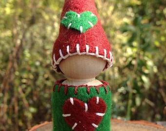 Waldorf inspired Christmas gnome- little Santa's helper