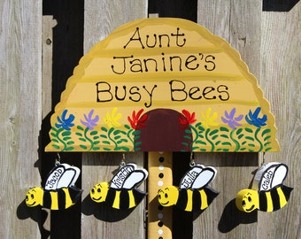 Aunt garden stake with personalized Nieces And Nephews