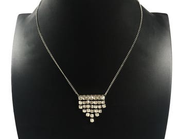 1960s rhinestone necklace // vintage necklace // vintage