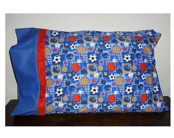 Pillowcase,Sports-Baseball,Soccer,Football,Etc, Standard Size, 20 x 30, Cotton