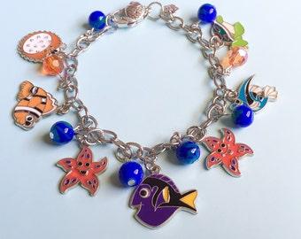 Finding Nemo Jewelry, Finding Dory, Nemo inspired, Disney Inspired, Disney jewelry, Disney, Nemo, Dory, Fish bracelet, Fish jewelry