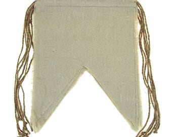 Natural Linen Banner with Jute String, Rectangle, 8-Inch x 10-Inch, 6-Piece