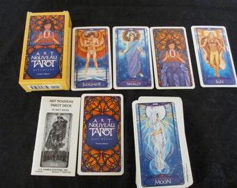 Vintage Art Nouveau Tarot Cards 1989