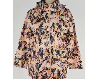 New vintage inspired floral mac/jacket -  plus sizes  16-24