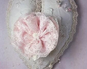 Lavender Lace Heart Sachet