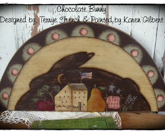 Chocolate Bunny by Karen Gilbert for Painting with Friends. E-Pattern