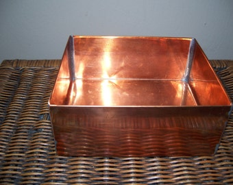 Pure Copper Humidifier Pan --  Holds 48 ounces of Water...
