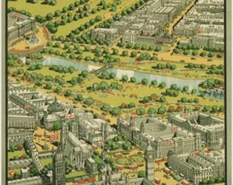 London Vintage Travel Poster Ernest Coffin United Kingdom 1936 24x36 Rare New Collectors
