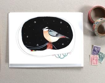 Greeting Card - Bird Card - Thinking of You Card - Everyday Card - Bird Stationery - Bird Greeting Card - Blank Bird Card - Star Bird