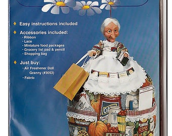 Granny Catch-All Easy Sew Plastic Bag Keeper / Fibre Crafts Sewing Kit 3059