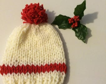 Ready to ship knitted Christmas hat