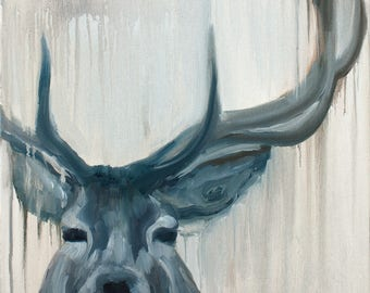Buck - giclée limited edition print by Adrienne Egger