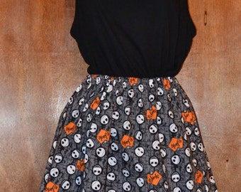 Jack Skellington Skirt,  Womens and Misses in Various Sizes