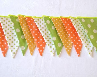 Bunting flags Fabric garland Baby bunting Nursery decor Baby shower Wedding bunting