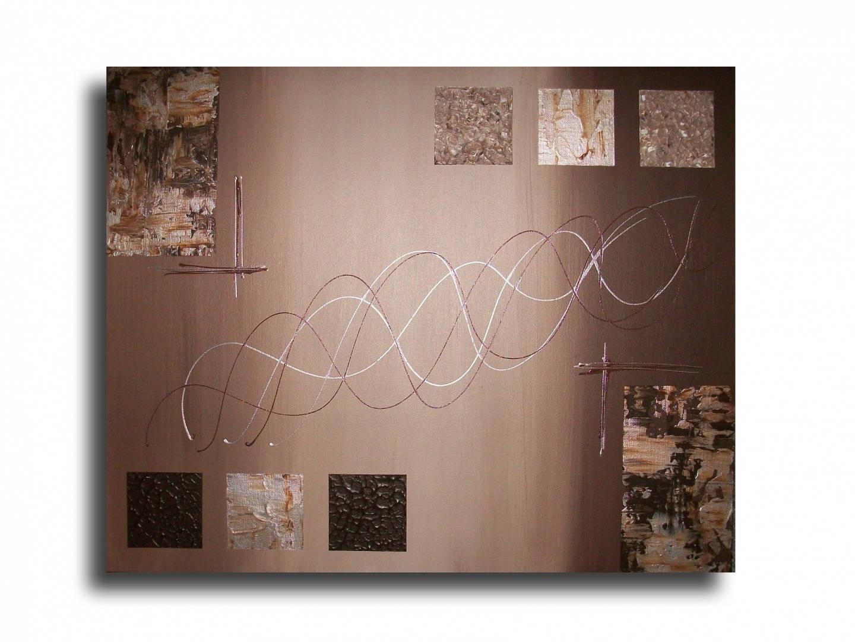tableau toile marron taupe beige gris moderne design abstrait. Black Bedroom Furniture Sets. Home Design Ideas