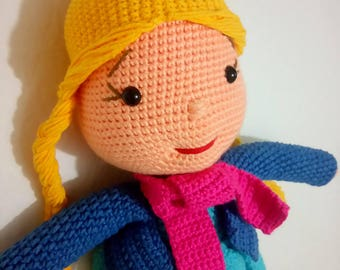 Blonde Amigurumi Baby Girl