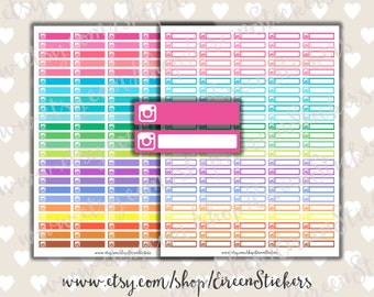 Instagram Labels, Erin Condren Printable Stickers, MAMBI Happy Planner Printable Stickers, Planner Stickers, Rainbow, PDF, Instant Download
