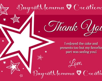 American Girl Themed Thank You Note