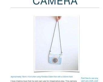 Pattern: Camera Amigurumi or Bag (Digital PDF File)