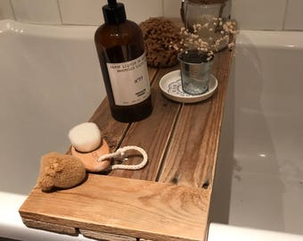 Rustic Bath Caddy 3 Slat