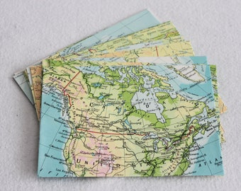 Recycled Map Envelopes / Oh Canada / Canadian Atlas Map Envelopes / set of 10, 4.5 x 6 by PrairiePeasant