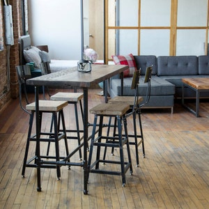 Urban Wood Goods High Top Bar Table, Bar Height Table, Bar Tables, Rustic