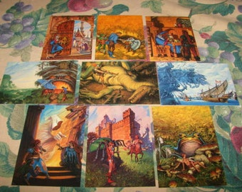 Darrell K. Sweet Fantasy Art Trading Cards by FPG 1994 lot of 9