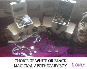 Hedge Witch Apothecary Herbs And More Boxed Set. Black OR White. Pagan, Wicca, Witchcraft
