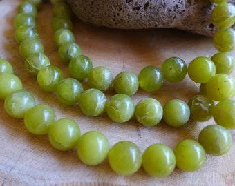 Chartreuse Green Stone Beads Avocado Green Beads De stash Jewelry Supply Large beads 50 beads
