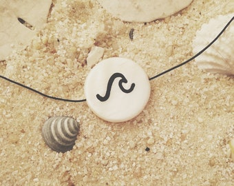 Hand-Painted Wave Necklace