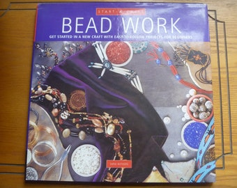 Bead Work, a Start a Craft Book by Sara Withers, hardback vintage crafting book