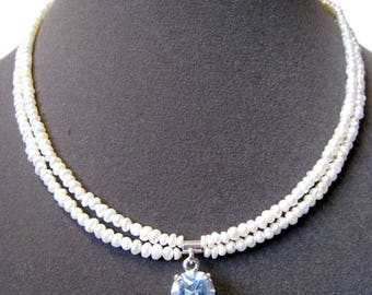 Topaz & Pearl Necklace**  FREE U.S. SHIPPING