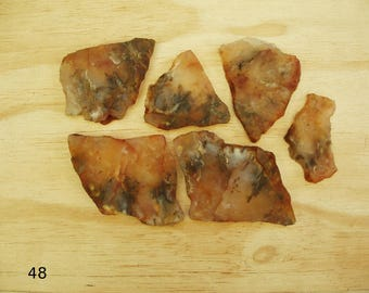 6- Small Slabs, Grave Yard Point Plume Agate