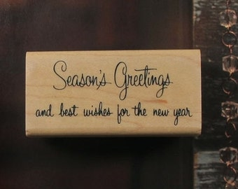 Season's Greeting Rubber Stamp