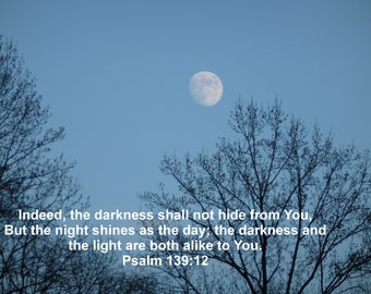 Clifty Falls Moon Psalm 139