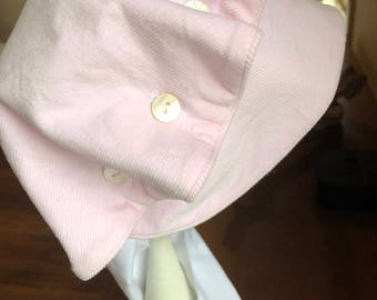 Girls Pink Corduroy Bonnet