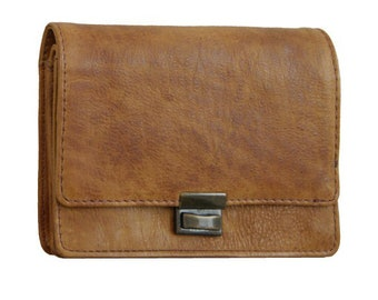Wallet Purse FUGGER brown Rugged-hide-leather - BARON of MALTZAHN
