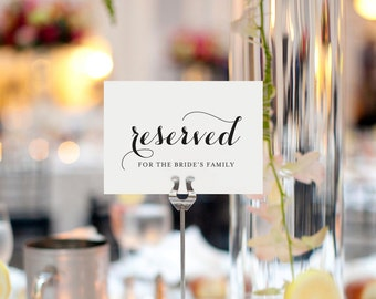 Reserved Printable, Reserved Wedding Sign, Reserved Table Sign, Wedding Printable, Wedding Reception Sign, PDF Instant Download #BPB133_42
