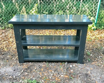 Farmhouse console table/ x console table *Made to order* local pick up only