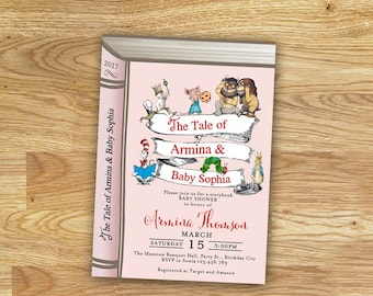 Storybook Baby Shower for Baby Girl // Invitation Card // Digital File Only