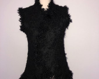Wool Felted ECO-Fur Vest for Women