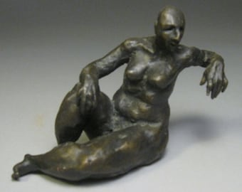 Gertrude / Bronze Reclining Nude Figure Model / Valerie Gilman / Taproot Arts and Insight