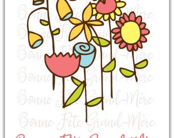 Je t'aime - hand made love friendship card - 12.5cm x 17.5cm (5'' x 7'') with envelope.