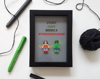 Batman Batwoman Superman and Superwoman quirky Superhero Mum Mother day anniversary birthday boyfriend girlfriend husband wife present