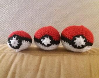 Amigurumi Pokeball crochet