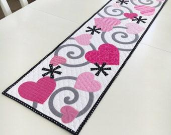 Valentine's Table Runner Quilt Pattern