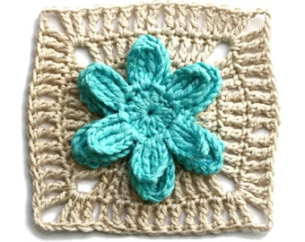 Crochet granny square pattern #ColorKeeper - PDF Pattern Basic Collection (Instant Download)